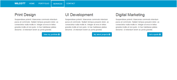 the services page is pretty bare, I still have components to add